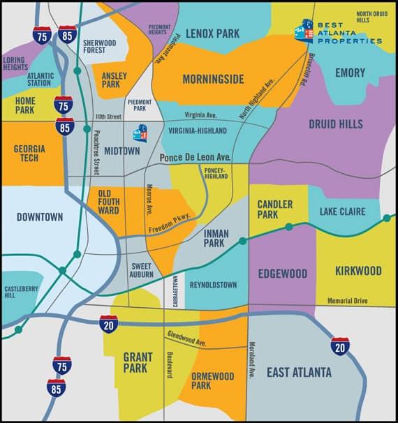 Bap Neighborhood Map on Atlanta Suburbs Map