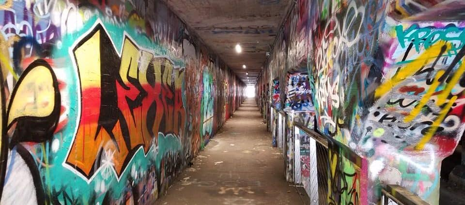 Atlanta neighborhoods for cycling - Krog Street Tunnel
