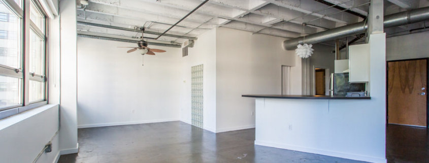 Peachtree Lofts - Living and kitchen area