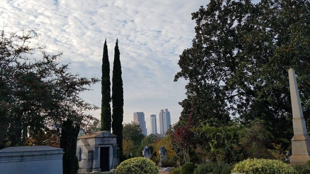 Escape to Oakland Cemetery near Grant Park, Atlanta GA
