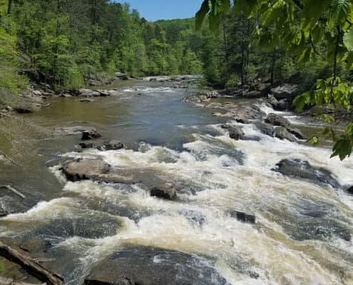 Best Nature Escapes Near Atlanta, GA - Sweetwater Creek rapids
