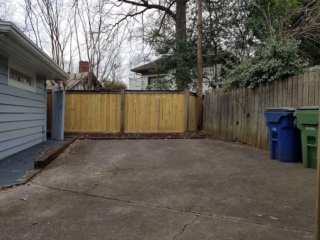 Gated parking area - Virginia Highland bungalow for sale - 973 Todd Road, Atlanta, GA 30306